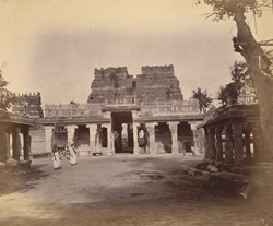 General view of the uncompleted east gopura of the Ramalingeshvara Temple, Rameswaram